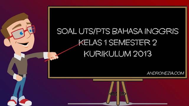 Soal UTS/PTS Bahasa Inggris Kelas 1 SD/MI Semester 2 Tahun 2021