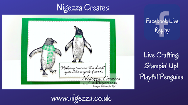 Nigezza Creates  Live With Stampin' Up! Playful Penguins