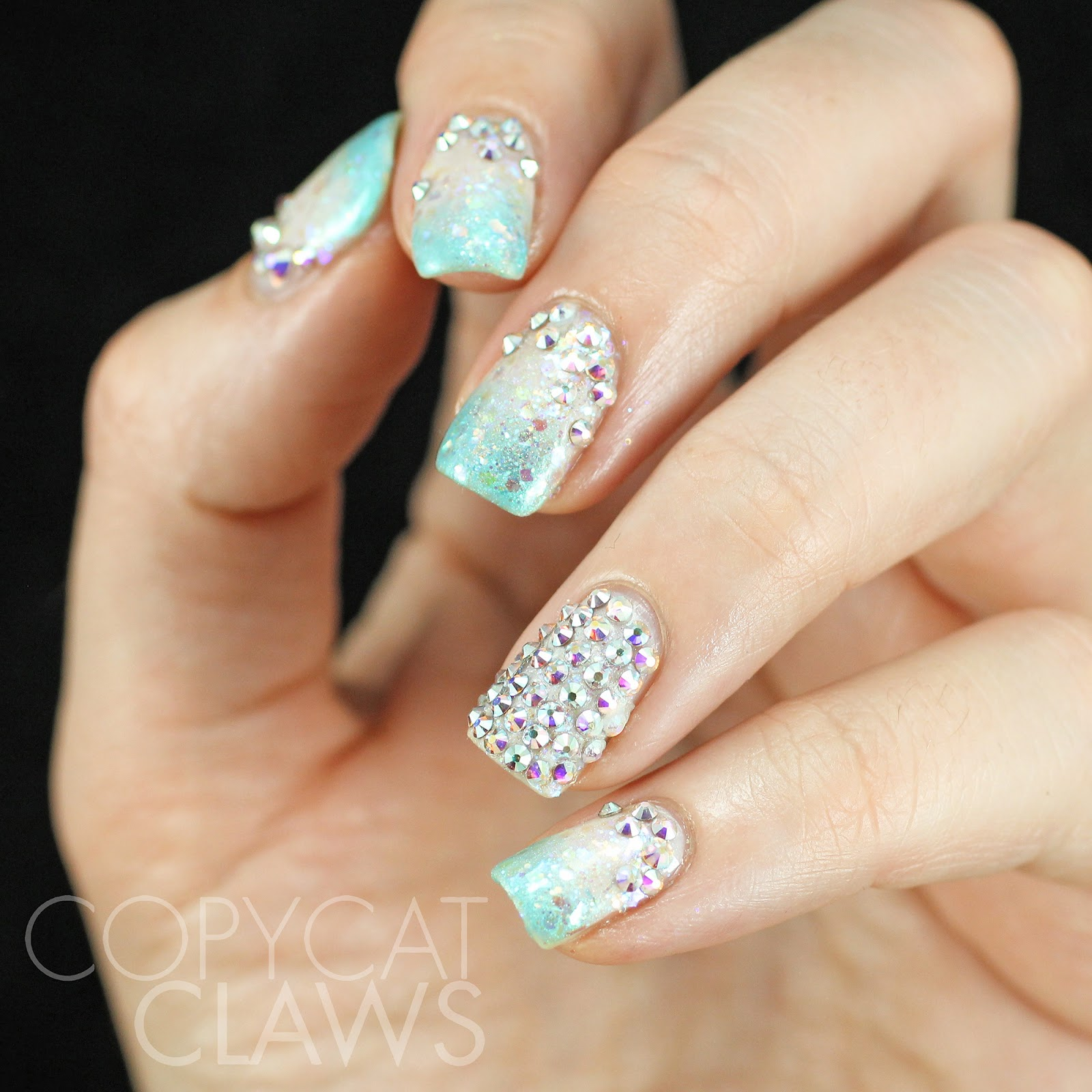 Copycat Claws: Swarovski Crystal Nails - Inspired by Pinterest