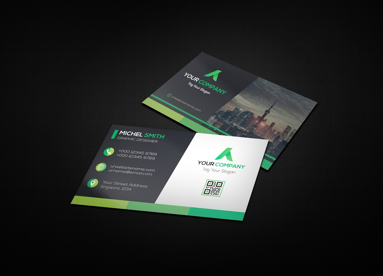 50+ Best Free High-Quality PSD Business Card Mockups | Top ...