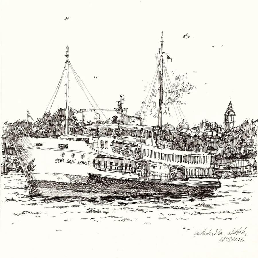 10-The-boat-Anastasia-Ageeva-www-designstack-co
