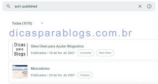 ordem inversa dos posts do blog