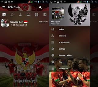 BBM MOD Transparan Tema Timnas Indonesia v3.2.0.6 APK Terbaru
