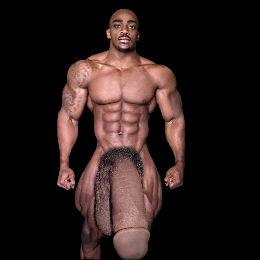 Male bodybuilders posing naked — pic 8