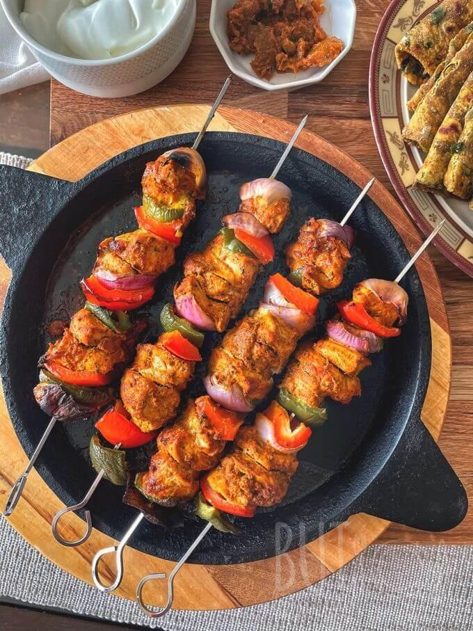 Homemade Chicken Tikka Kebabs