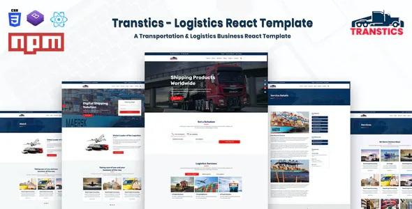 Logistics React Template