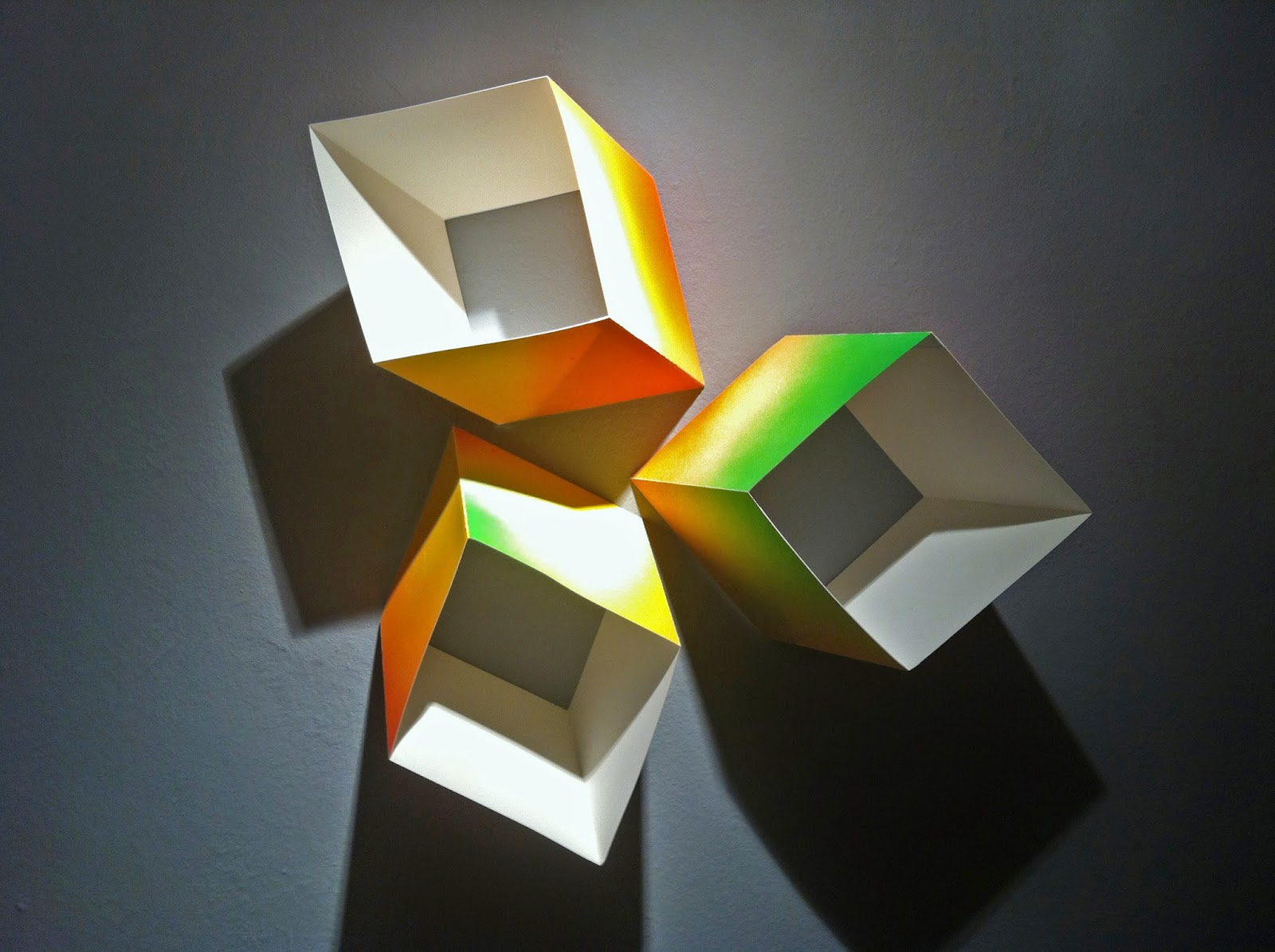 Wall-Mounted Geometric Paper Sculpture
