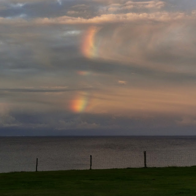 Regenboogwolken boven Storebaelt