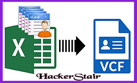 How to Convert Excel xlsx to Vcard vcf File