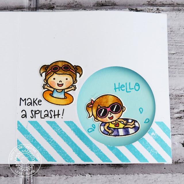 Sunny Studio Stamps: Coastal Cuties Beach Babies Catch A Wave Dies Summer Themed Interactive Cards by Lexa Levana and Rachel Alvarado