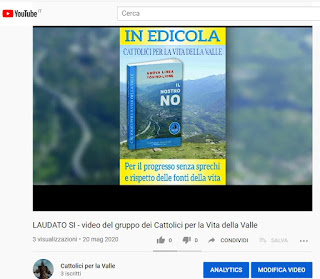 """video per il 5 anniversario Enciclica """"Laudato si' """""""