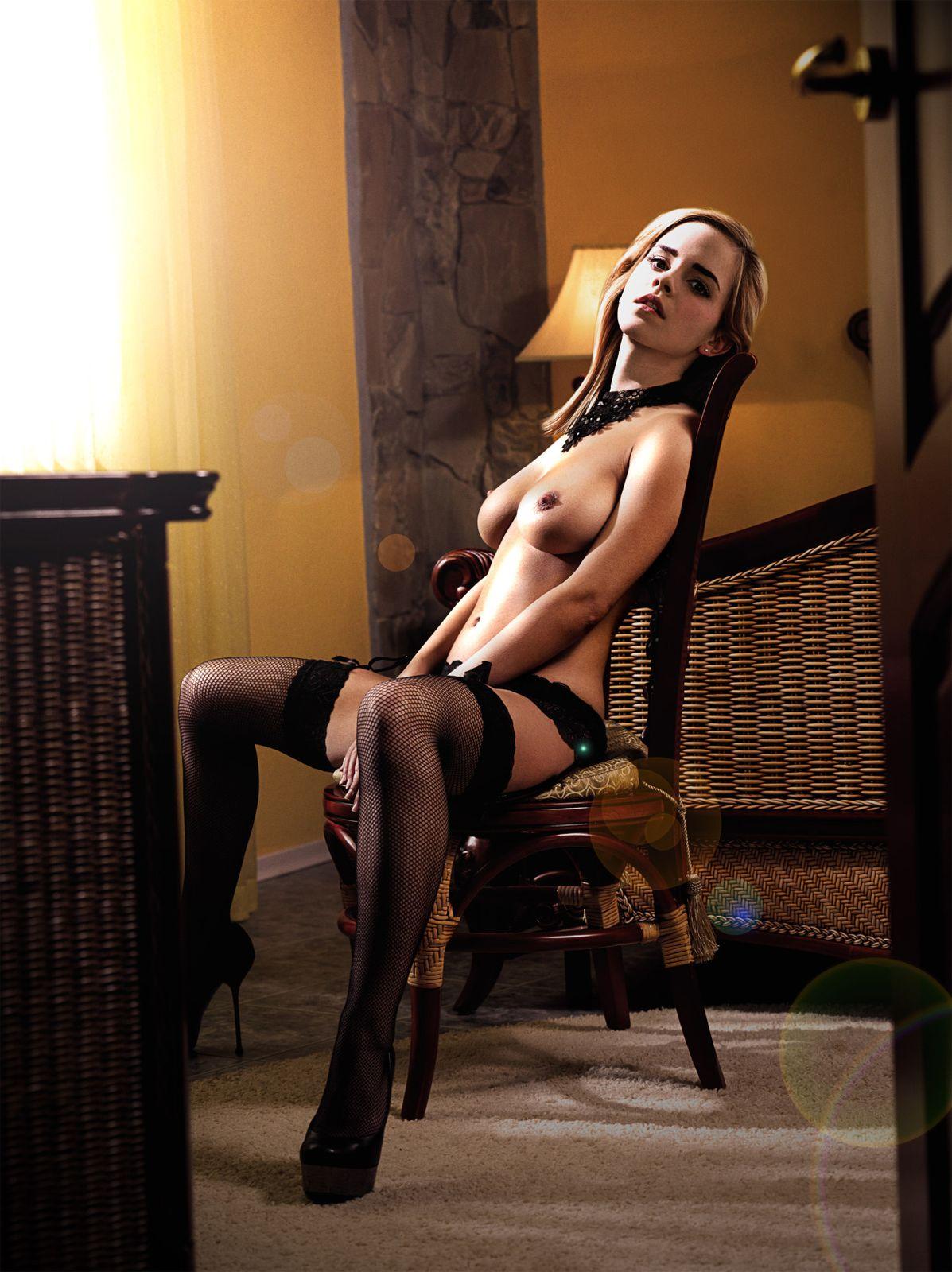 Emma Watson Sitting Naked