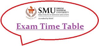 Sikkim Manipal University Exam Date Sheet 2020