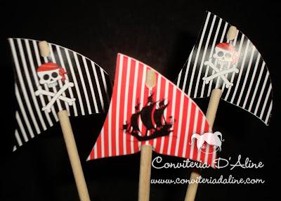 toppers decoração piratas