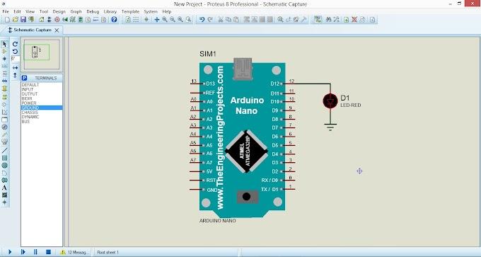 Cara Memprogram Arduino di Proteus