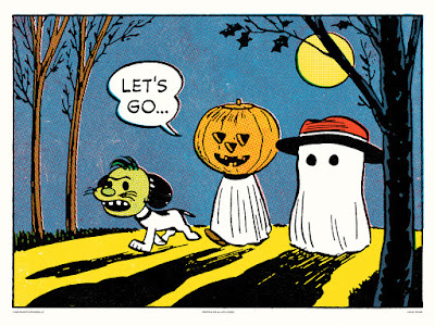 Peanuts Halloween Screen Prints by Charles Schulz x Mondo