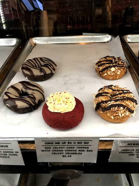 Warm Donuts on Display at the Urban Donut Shop