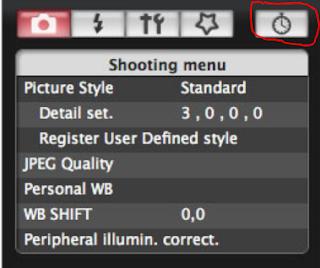 Shooting menu EOS Utility, Menu dengan gambar stopwatch bisa digunakan sebagai intervalometer