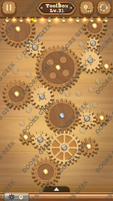 Fix it: Gear Puzzle [ToolBox] Level 31 Solution, Cheats, Walkthrough for Android, iPhone, iPad and iPod