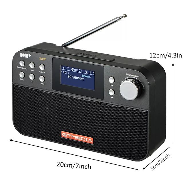 DAB+ DAB FM RDS Full Band Digital Radio 60 Preset Stations 2.4inch TFT Display Upgrade Version