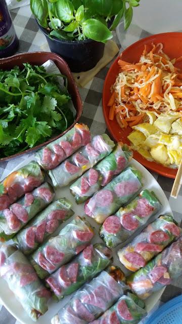 """""""Bò bía"""" Rouleaux de printemps aux légumes; """"Bò bía"""" Rouleaux de printemps aux légumes"""