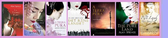 portadas de la novela histórica La tierra pura, de Alan Spence