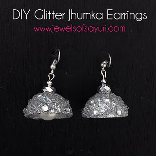 DIY Glitter Jhumka Earrings Tutorial