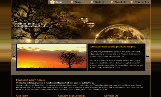 All Free Premium Wordpress Themes Free CSS Brown Black Space - halloween website template
