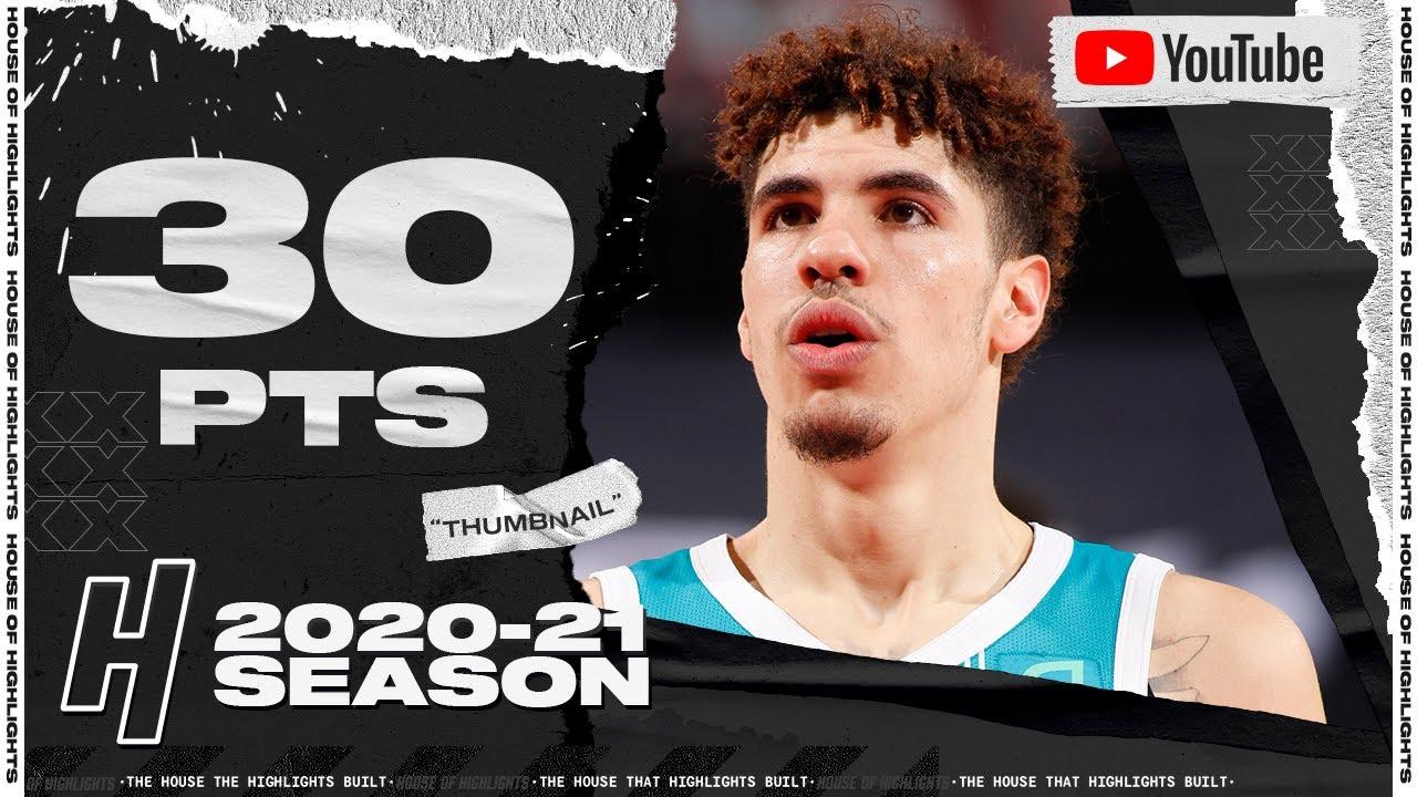 LaMelo Ball 30pts 6reb 8ast vs POR   March 1, 2021   2020-21 NBA Season