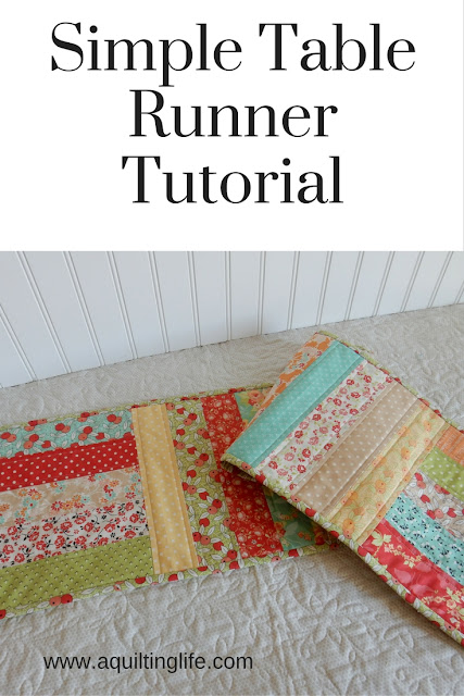 http://www.aquiltinglife.com/2012/08/simple-table-runner-tutorial.html