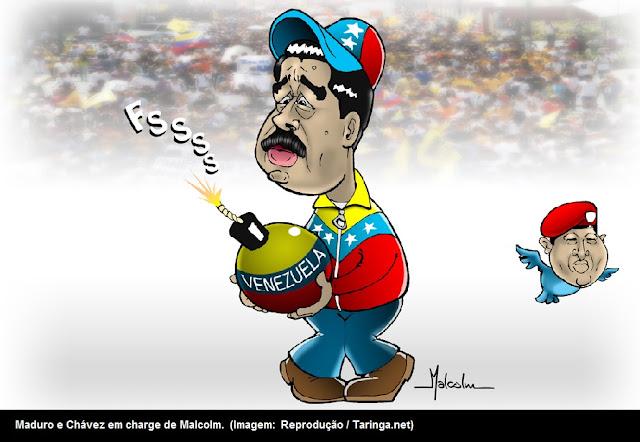 Resultado de imagem para O ditador Nicolas Maduro: charges