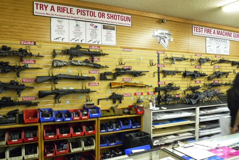 Loja de armas e tiro em Las Vegas