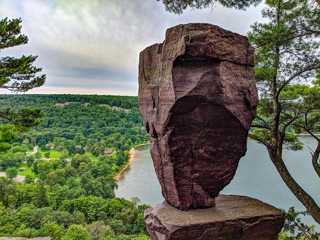 Balanced Rock at Devil's Lake State Park