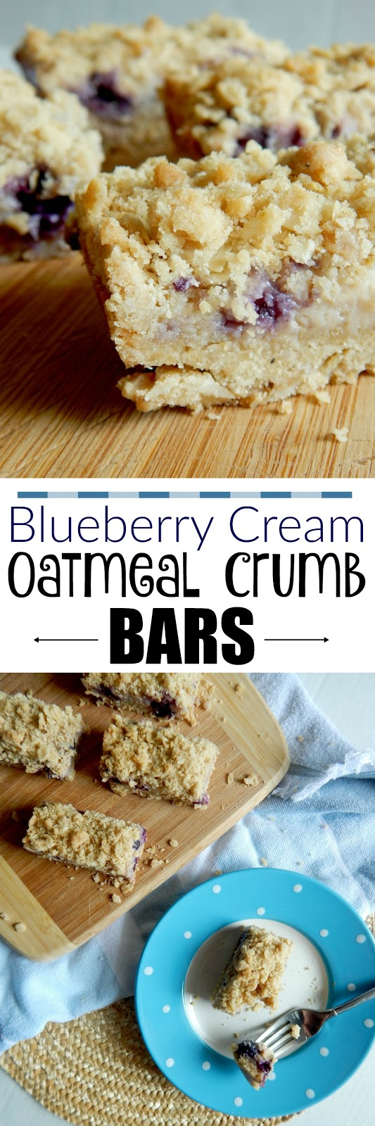 blueberry cream oatmeal crumb bars