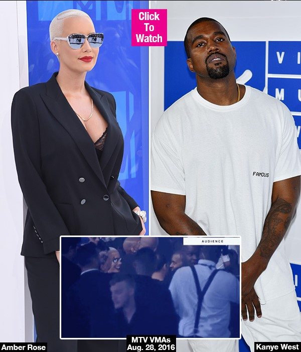 Amber Rose Confronts Kanye West After Wild VMAs Rant — Did She Forgive Him?