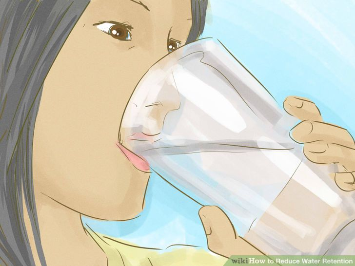 It doesn't sound sensible but drinking water actually does help with water retention.