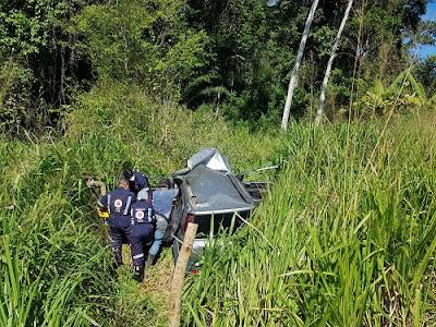 Motorista fica ferido em acidente na rodovia Ipiaú-Ibirataia