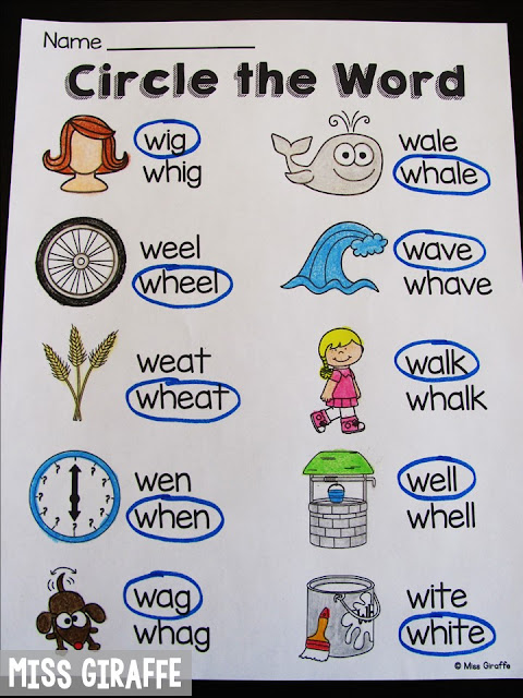 WH worksheets and activities and lots of ideas for teaching all the digraphs