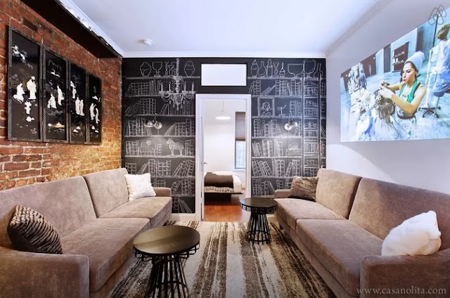 Air BnB Designer 1 Bed Soho/Nolita Living Room