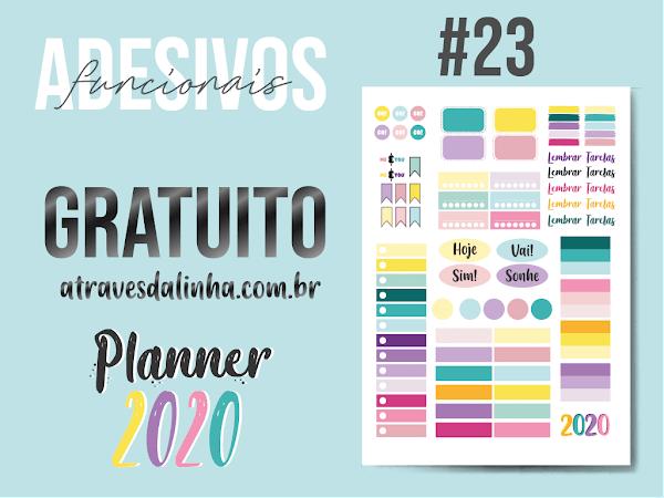 Planner 2020 #23: adesivos funcionais