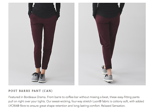 lululemon post-barre-pant