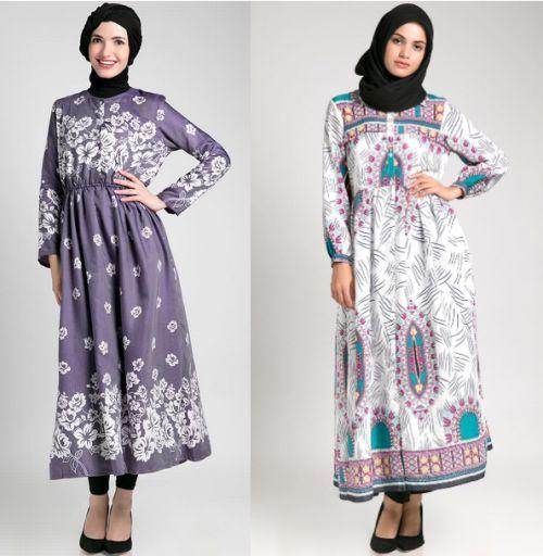 Model Baju Muslim Gamis Batik: Model Baju Gamis Batik Wanita Muslimah