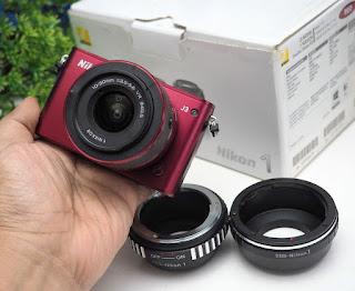 Nikon J3 + Kit + Paket Adapter Canon EF dan Nikon AI