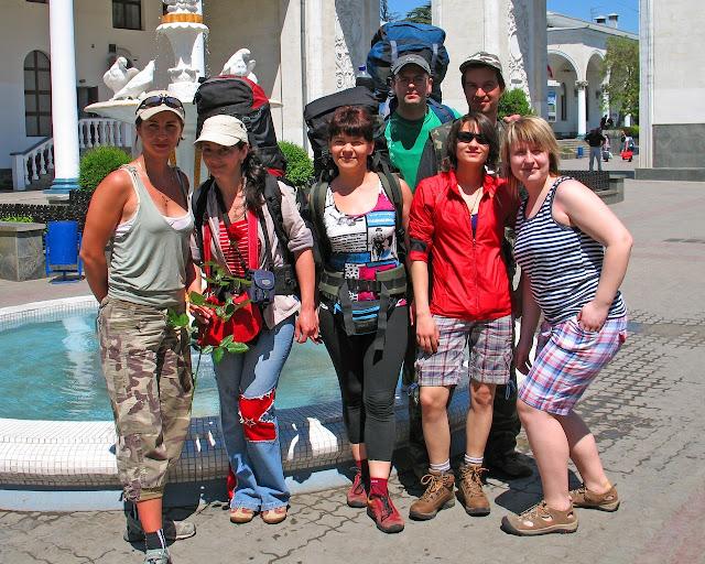 Наша группа: встреча на вокзале в Симферополе