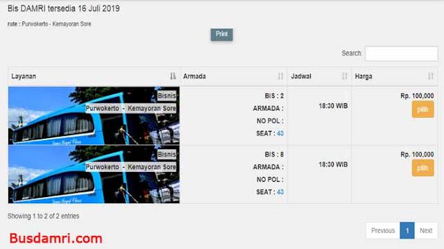 Damri Purwokerto, Ini Jadwal & Harga Tiket ke Jakarta