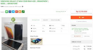 Harga baru Samsung Galaxy J7 Max Garansi Internasional