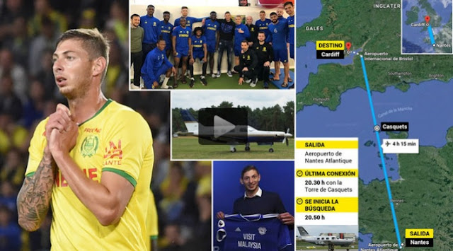 emiliano sala avion cardiff accidente canal mancha