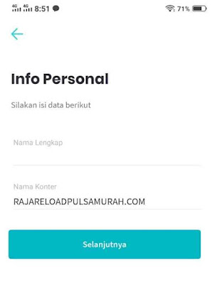 Isi Info Personal