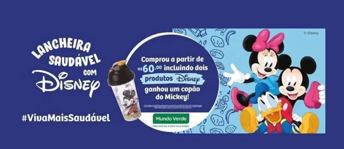 Promoção Mundo Verde 2020 Lancheira Saudável Disney - Ganhe Copo do Mickey