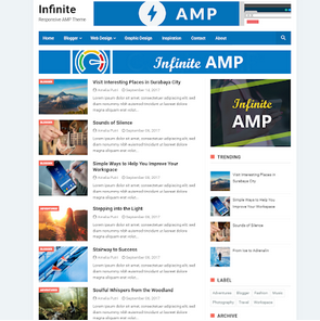 Infinite AMP Blogger Template 2020